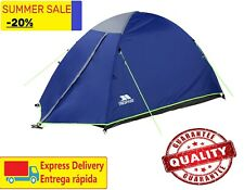 Trespass 2 Person 1 Room Tent Darkened Room Dome Camping Double Skin