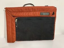 REI Laptop Soft Side Carry Case Bag Black Orange Nylon Slim Line Packable