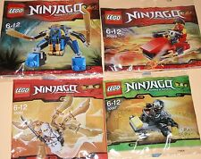 4x Lego Ninjago! Jay , Kai , Cole und Zane! Alle mit viel Zubehör