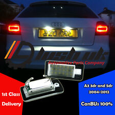 *2 x AUDI A3 04-12 NUMBER PLATE UNIT LED CANBUS ERROR FREE Module resistor a4