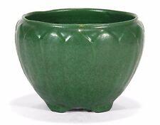 "Weller Pottery Bedford Matte green leaf jardiniere arts & crafts 6.5"" dia"