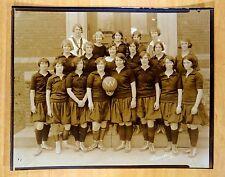 1925 GIRLS BASKETBALL TEAM WESTWOOD NJ HIGH SCHOOL Antique 8x10 Photograph