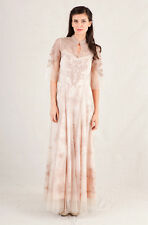 NEW NWT Nataya Plus Size Edwardian Overlay Ball Gown in Blush Dress Slip Set 3X