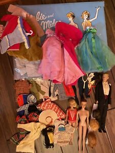 Vintage Fashion Queen Barbie, Blonde Skipper, Ken, and Clothes Lot *READ AD*