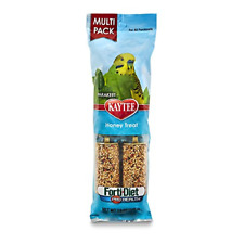 Kaytee Forti-Diet Pro Health Honey Bird Treat Sticks For Parakeets, 7-Ounce