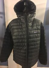 PATAGONIA Men's Down Sweater Hoody in Black Water Resistant - Size Medium (M)
