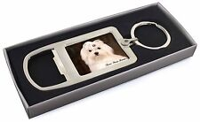 Maltese Dog 'Love You Mum' Chrome Metal Bottle Opener Keyring in Bo, AD-M1lymMBO