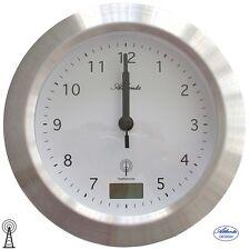 Atlanta 47 Reloj De Pared Baño Radio Plateado badezimmer-uhr Termómetro Bad 822