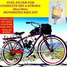 Fuel Filter For Complete 2-Stroke 66Cc/80Cc Motorized Bicycle Kit Bike