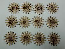 12 Laser Cut Wooden Daisy Flower Shapes 50mm 3mm MDF Crafts Embelishments