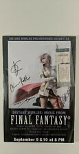 One of a Kind Distant World's Poster Signed By Nobuo Uematsu + Arnie Roth