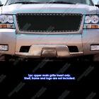 Fits 2007-2013 Chevy Avalanchesuburbantahoe Stainless Black Rivet Mesh Grille