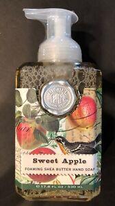 SHEA BUTTER FOAMING HAND SOAP Sweet  Apple Michel Design Works 17.8 Ounces