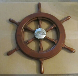 Vintage Trojan Helm Wheel - Ships Wheel