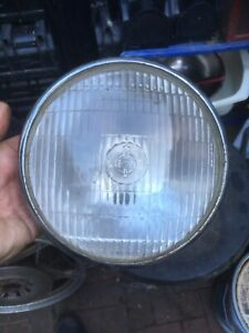 Vintage Lucas 700 Motorcycle Headlamp Glass And Rim 7 Inch Used Look