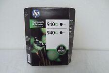 HP 940XL Dual Black InkJet Cartridge 2.2K High Yield 8000 8500 8500A C4906AN NEW