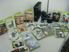 XBOX 360 SLIM 250GB BUNDLE CONSOLE 2 CONTROLLERS KINECT BAR 16 GAMES AND DEMOS