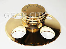 ndd00 Soft Gold 240g Record Weight LP Disc Stabilizer Turntable Vinyl Clamp HiFi
