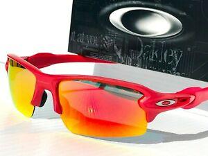 NEW* Oakley FLAK 2.0 XL IR Red w POLARIZED Galaxy Ruby  Sunglass 9188-12