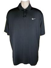 Men's Nike Tiger Woods TW Dri-Fit Trajectory Short Sleeve Golf Polo Size Medium