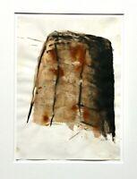 Helga Föhl (geb. 1935) signiertes Aquarell, abstrakte Komposition, 1998