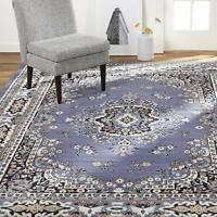 """Nice Carpet Area Rug 7' 8"""" x 10' 7"""" Floral Shabby Chic Bohemian Traditional Blue"""
