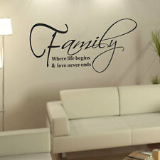 Family Love Quote Removable DIY Art Vinyl Wall Sticker Decal Mural Home Decor bg