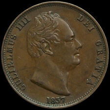 More details for 1837 william iv milled copper halfpenny