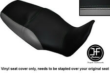 BLACK & GREY VINYL CUSTOM FITS HONDA XL 1000 V VARADERO 08-13 DUAL SEAT COVER