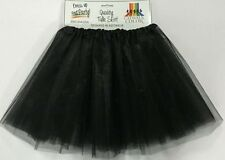 Adult 4 Layer Black Tulle Skirt 80's Dance Tutu Hen's Party Costume