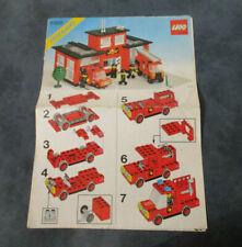 LEGO Vintage Notice de Montage Instruction Fire Station Set 6382 lego legoland