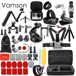 Vamson for Go pro Accessories Set for go pro hero 9 8 7 6 5 4 kit & selfie stick