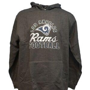 Los Angeles Rams NFL Majestic Men's Kick Return Gray Hoodie Big and Tall Sizes