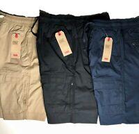 Levi's Utility Cargo Pocket Shorts Elastic Waist Khaki Navy Black S M L XL XXL