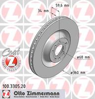 Bremsscheibe (2 Stück) COAT Z - Zimmermann 100.3305.20