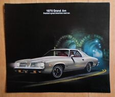 PONTIAC grand am ORIG 1975 USA MKT grand format la brochure commerciale
