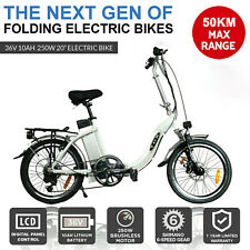 ELECTRIC BIKE 36V 250W MOTOR PEDAL ASSIST SHIMANO GEARS MTB PAS BICYCLE WHITE