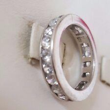 Eleganter Memory Silber Ring 925 mit Steinen  silver größe 54