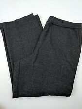EILEEN FISHER Charcoal 100% Wool Stretch Knit Pull On Pants L (140)