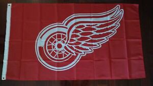 Detroit Red Wings 3x5 Flag. US seller. Free shipping in the US