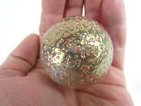 "TOE BREAKER 50mm (2"") PRINCESS Pink Glitter Confetti Marbles glass Ball HUGE"