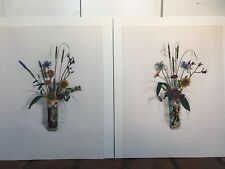 Two Oriental Vase I & II Loudermilk Still Life Signed Colored Etching Art Print