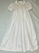 Christening or Baptism dress (Satin with smocked bodice)
