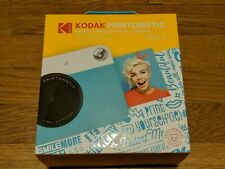 BRAND NEW Kodak PRINTOMATIC Digital Instant Print Camera BLUE & WHITE 10MP