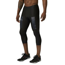 Mens Reebok CrossFit Compression 3/4 Tights Black Training Wicking Trousers