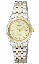 Citizen Ladies Dress Eco Drive Two Tone Stainless Steel Watch EW0944-51P