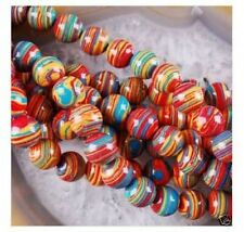 """wholesale10mm red Multicolor Turkey Turquoise Loose 15"""""""