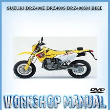 SUZUKI DRZ400E DRZ400S DRZ400SM 2000-2006 BIKE WORKSHOP REPAIR MANUAL IN DISC