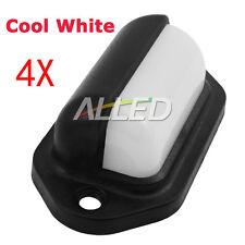 4X12V Cool White Waterproof LED Courtesy Light Deck/Garden/Boat/Stair/Step/RV