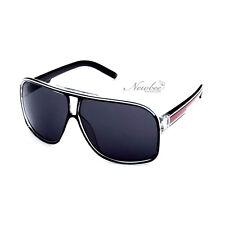 Carrera Style Sunglasses Black Red Turbo Aviator Style Retro Vintage